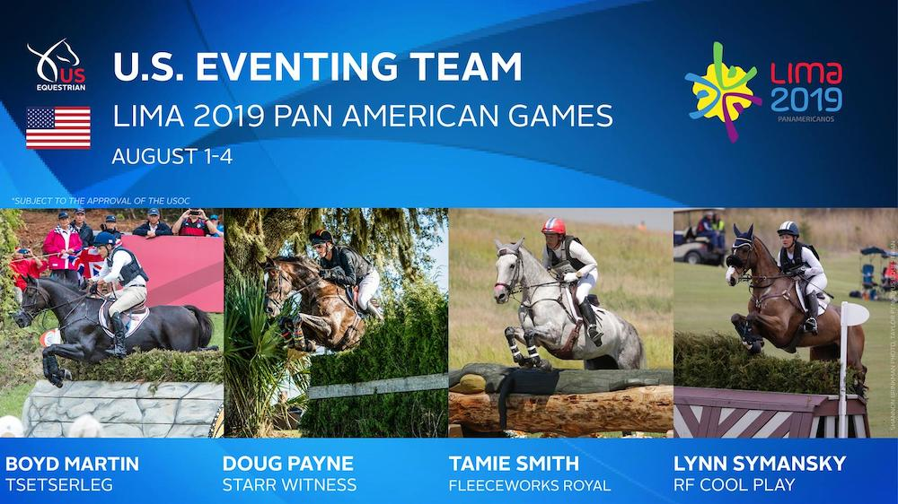 US names eventing team for  Lima 2019 Pan American Games